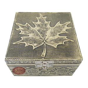 "Antique Maple Designed, Wooden Handmade, Empty Dry Fruit Box (5""x5""x3"" inch)"