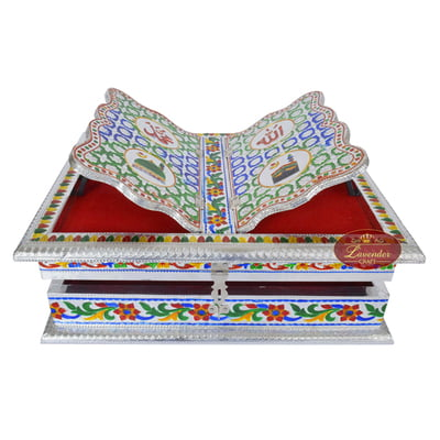 Meenakari Decorated Rehal Holy Quran Book Stand-book Box S,M Curved